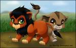 Chibi Scar and Zira