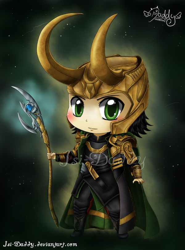 Chibi Loki Laufeyson - God of Mischief by Isi-Daddy on ...