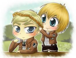 Erwin x Armin - My beautiful princess by Isi-Daddy