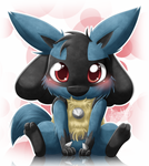 Lucario - Am I cute enough now?