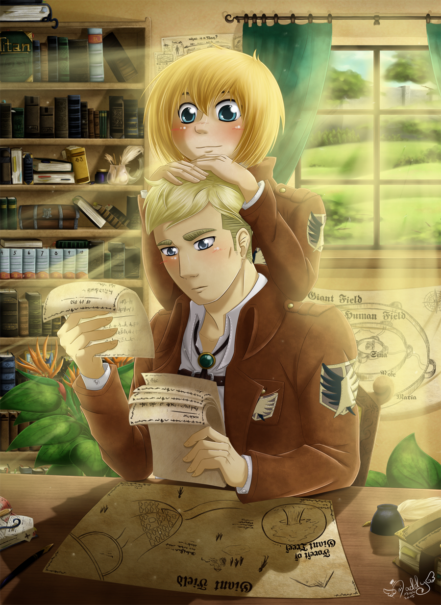 Erwin x Armin - the chief and the apprentice