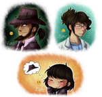 Emoji Meme - Lupin III - Jigen and Livia