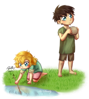 Avarus and Saira as Kiddies by Isi-Daddy