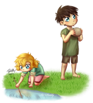 Avarus and Saira as Kiddies