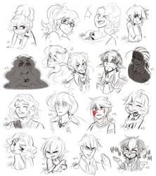 OC Sketchdump 04 - Expression Challenge