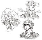 C - The 3 with golrious Hair by Isi-Daddy