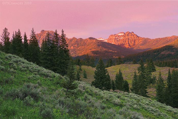 Yellowstone evening by PeterJCoskun