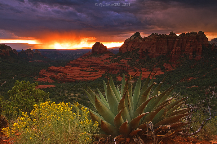 Falling fire by PeterJCoskun