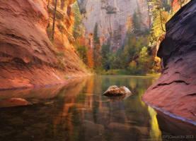 Red Rock Autumn by PeterJCoskun