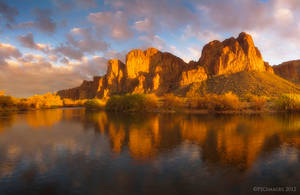 The Golden Cliffs by PeterJCoskun