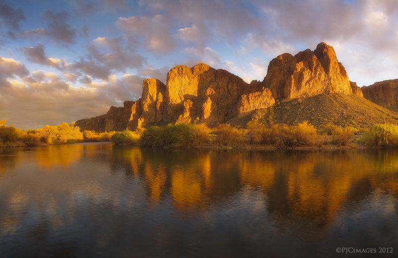 The Golden Cliffs by PeterJCoskun
