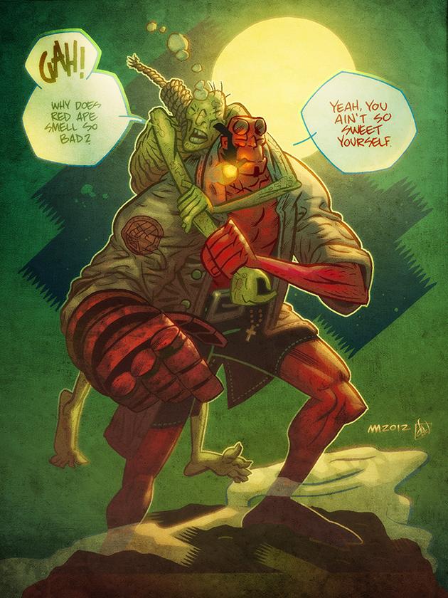 Hellboy by Andrew Ross Maclean by artmunki
