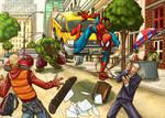 Spiderman vs. Hulk 2 by NeMA