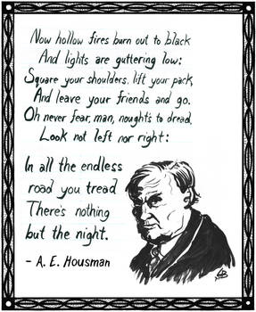 Poem by A.E. Housman ~ Drawing of Clarence Darrow