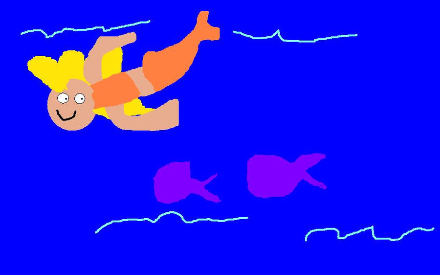 Deema swimming with the fishes by mylesterlucky7 on deviantart for Swimming with the fishes