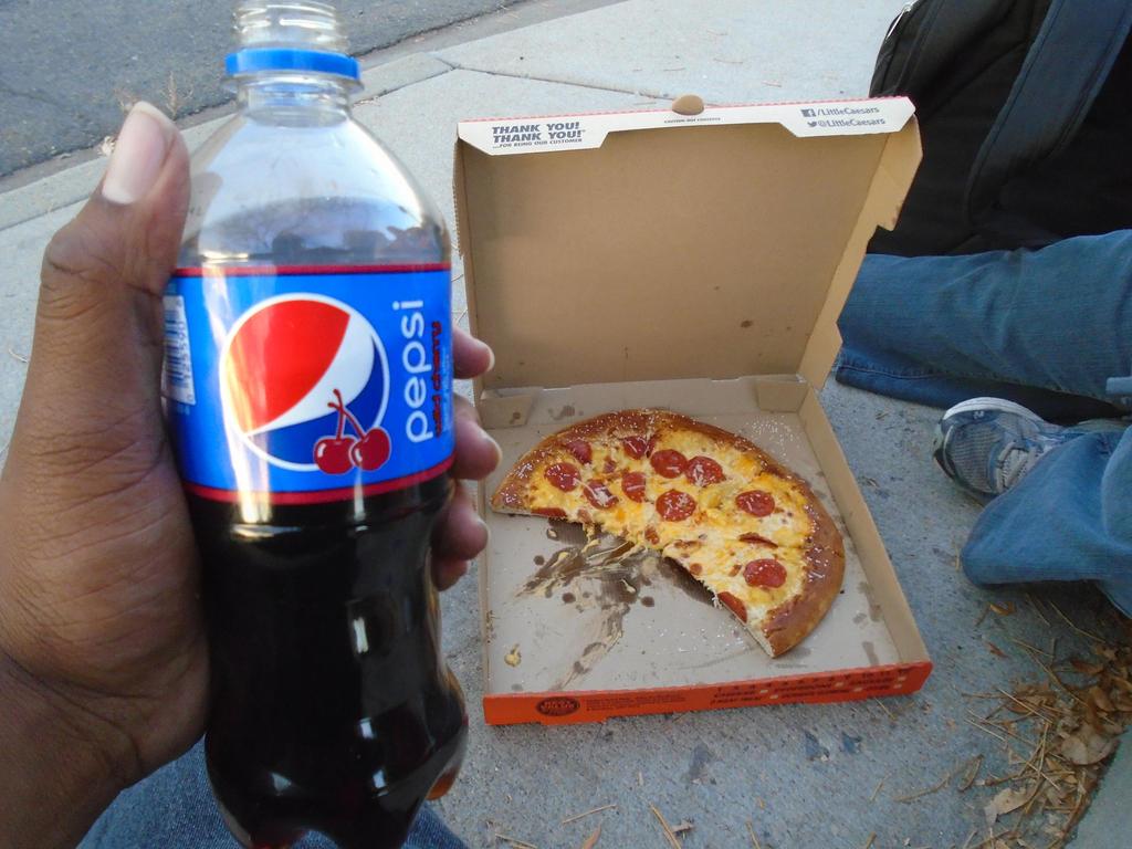 Pizza and Wild Cherry Pepsi by mylesterlucky7