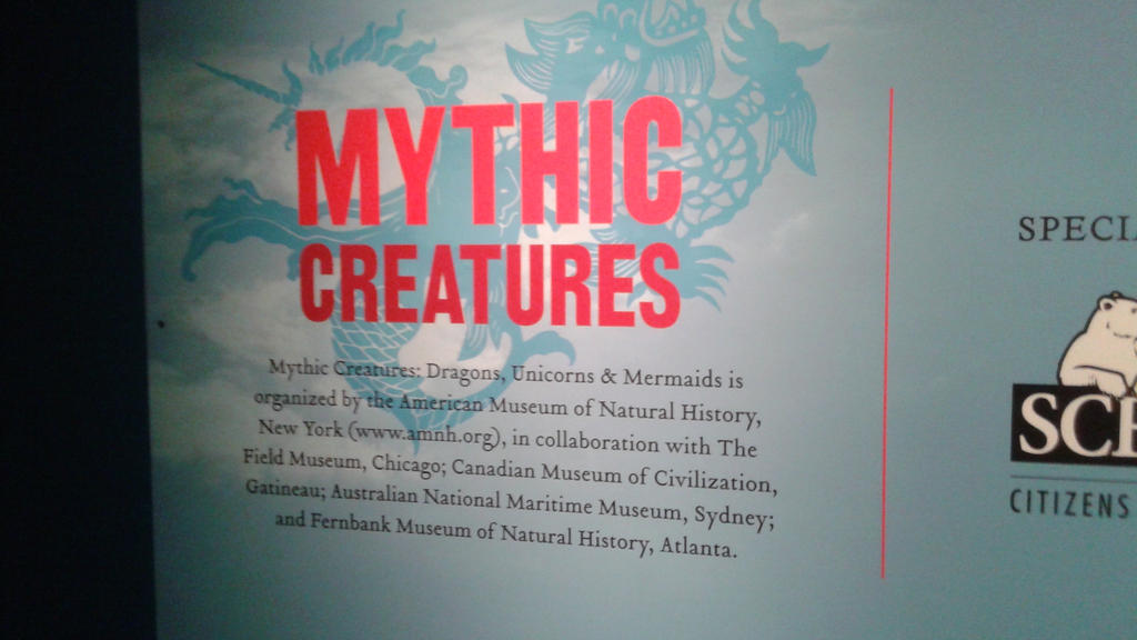 Going to the Mythic creatures exhibit by mylesterlucky7