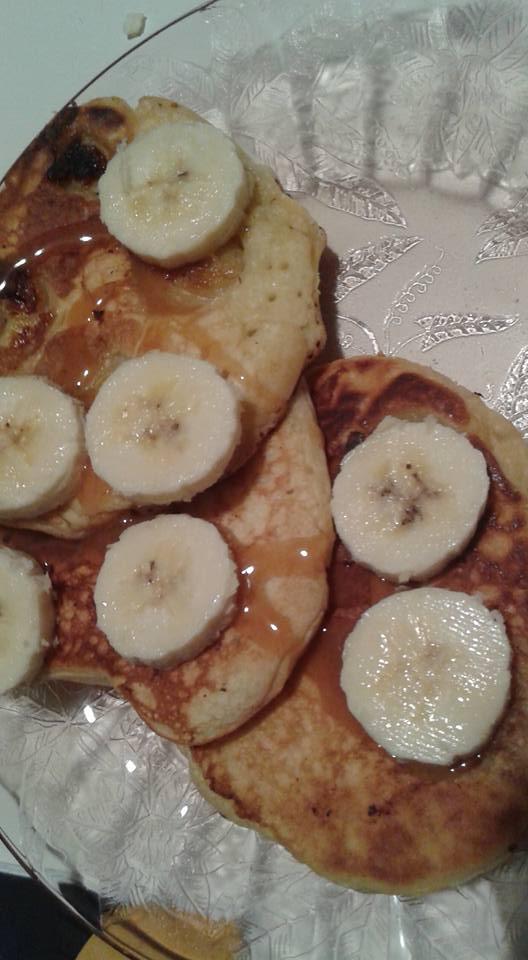 Caramel Banana pancakes by mylesterlucky7