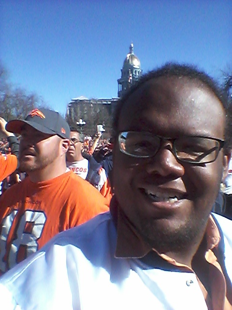 Selfie at the Broncos rally by mylesterlucky7