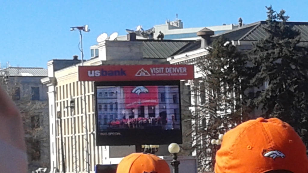 Watching the celebration on another big screen by mylesterlucky7
