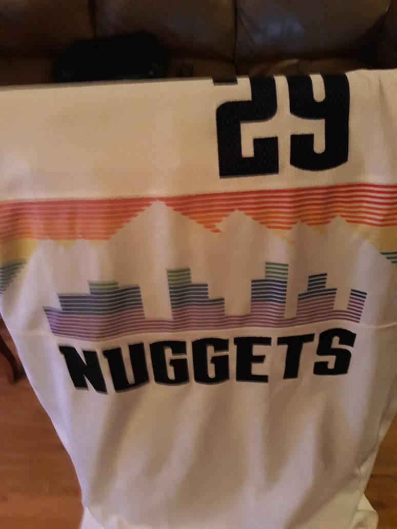 best quality 1d1dd 12607 My Denver Nuggets skyline rainbow jersey by mylesterlucky7 ...