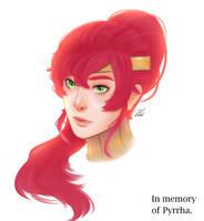In Memory of Pyrrha Nikos. RWBY by CieIty