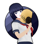 Yandere Simulator: Navy Blue Bob Hair