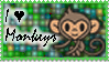 I Love Monkeys Stamp by Vexic929