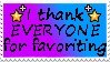 Thanks For The Favorite Stamp by Vexic929