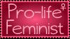 Pro-Life Feminist Stamp