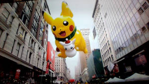 Macy's pikachu balloon