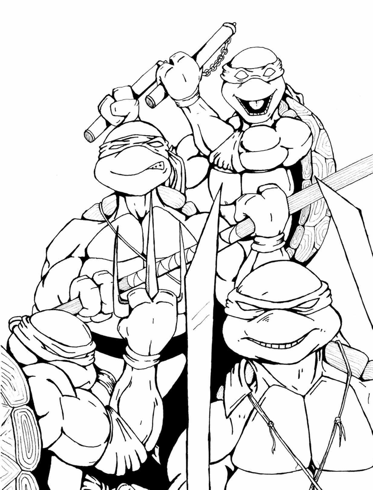Line Art Ninja : Ninja turtles by petex on deviantart