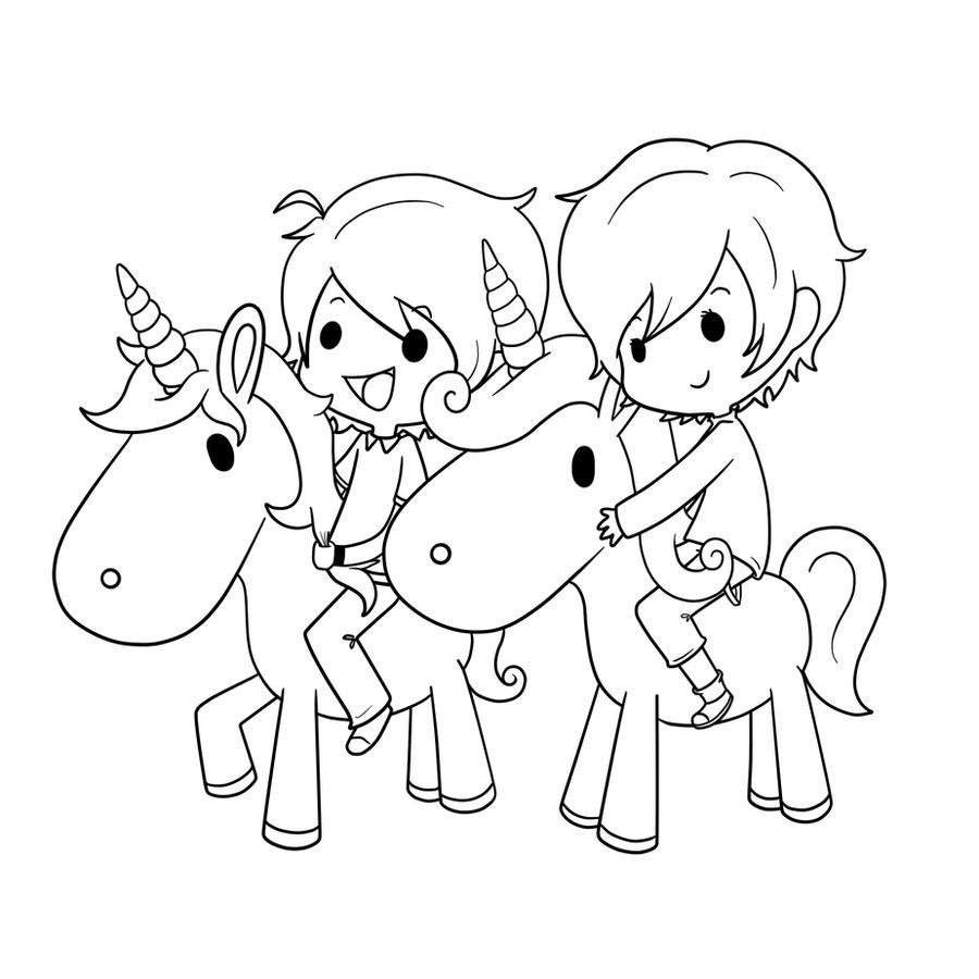 unicorns ride by ezkai on deviantart