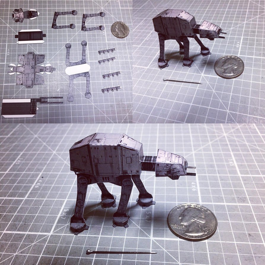 Star Wars AT-AT micro papercraft  by otherwld