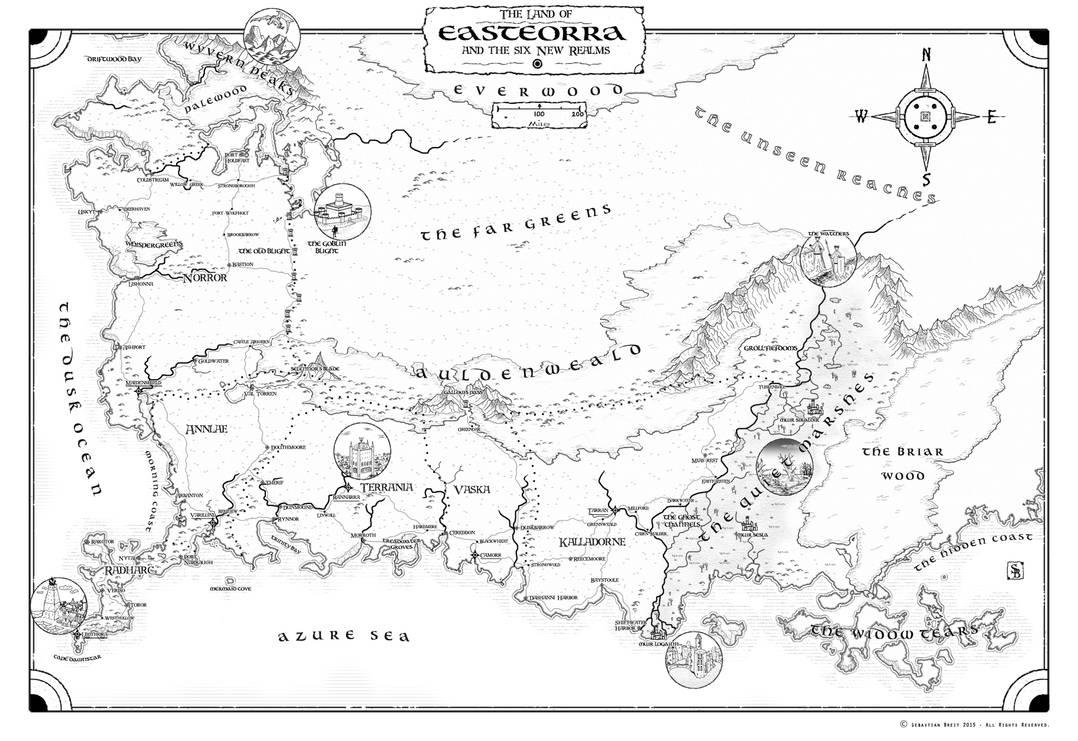Easteorra Map by stratomunchkin