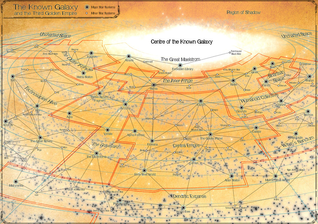 Emissary -- Map of the Known Galaxy by stratomunchkin
