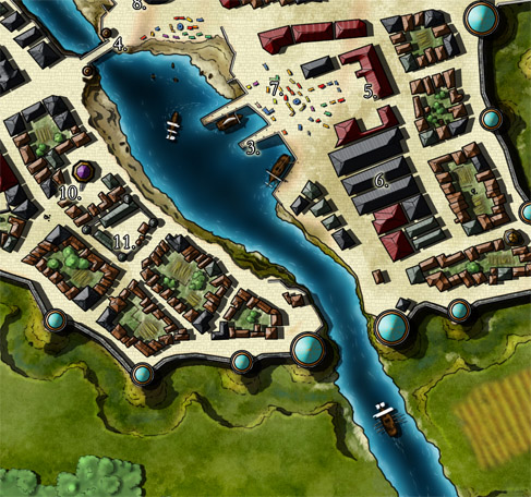 SMall-Scale Preview, River Harbour & Marketplace