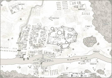 Keep and Village of Briar Hill by stratomunchkin