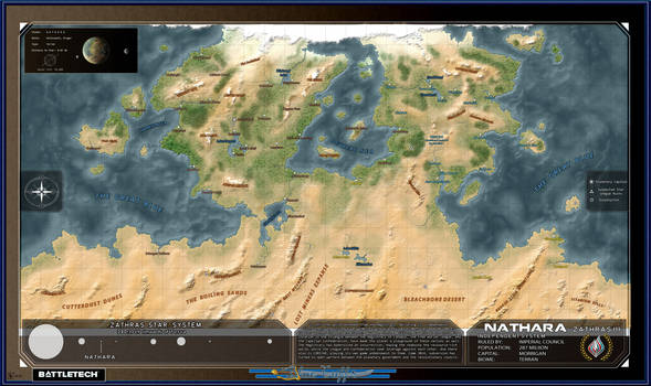 Nathara Planet Map [Battletech]