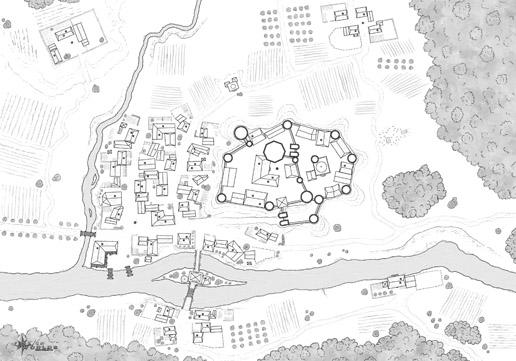 Map of Briar Hill, B&W