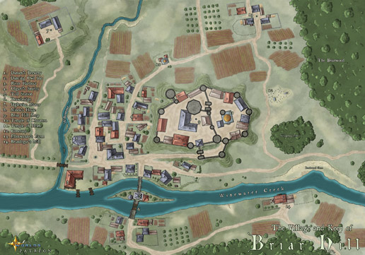 Map of Briar Hill, Colored