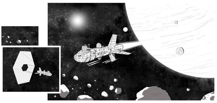 Unnamed Battletech WarShip art experiment