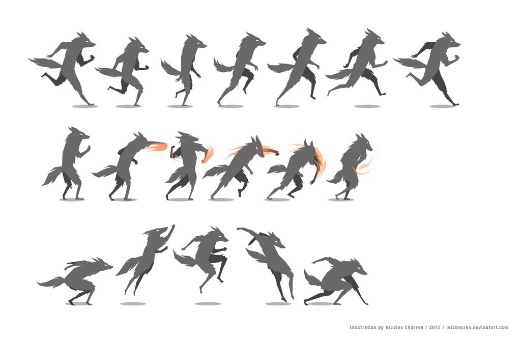 Wolf character animation by lelabocrea on DeviantArt