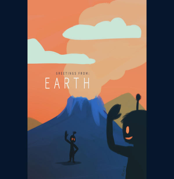 Earth Postcard by Richirich