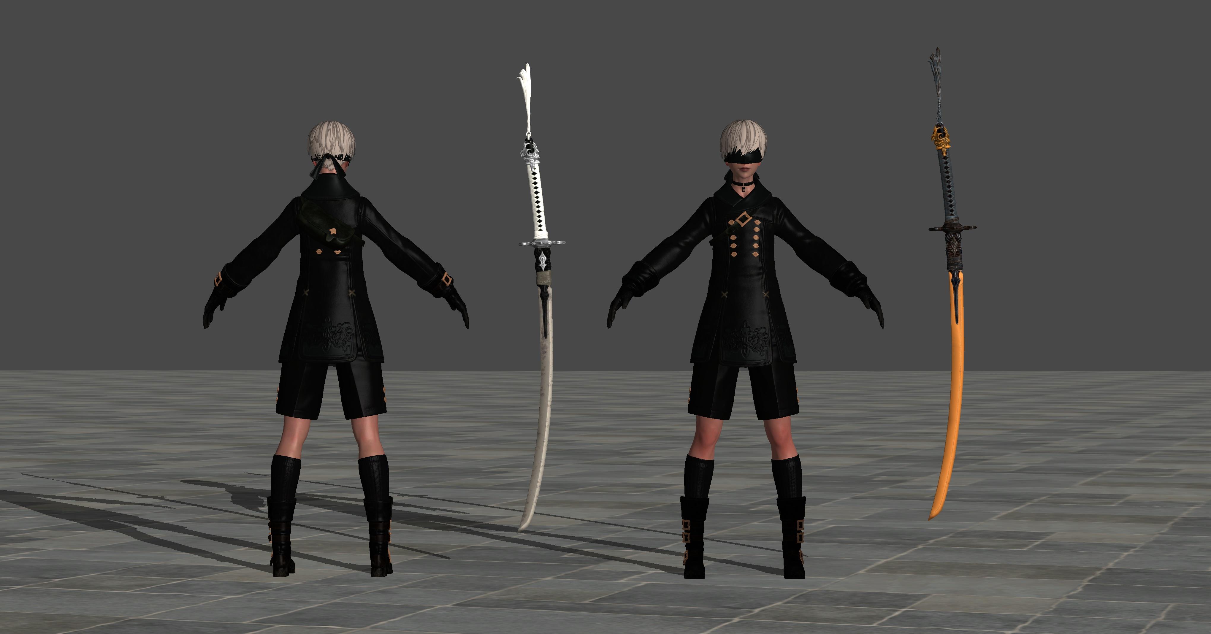 9s swords just static models by theforgottensaint47 on for Deviantart vrchat avatars