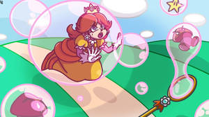 Princess Daisy with Soap Bubbles request
