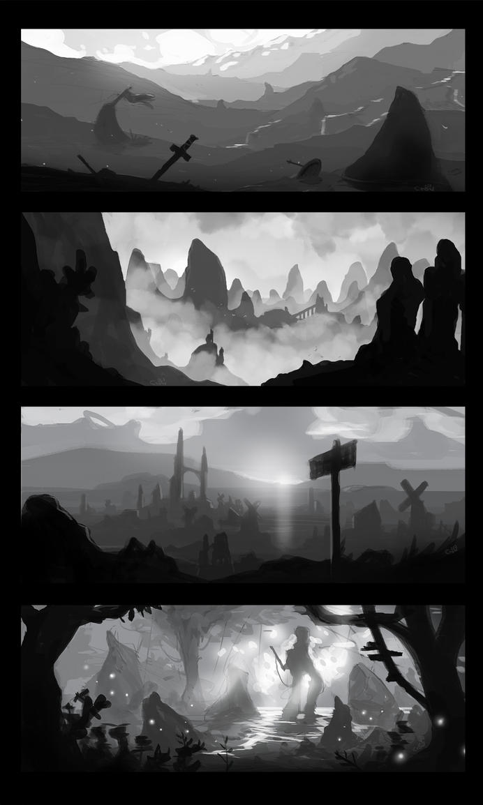 concept art studies by crow559