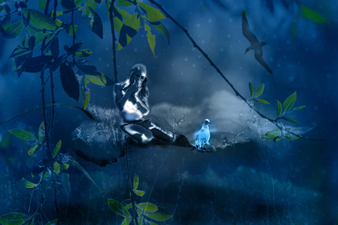 Blue image and Flying friends by Pebbles58