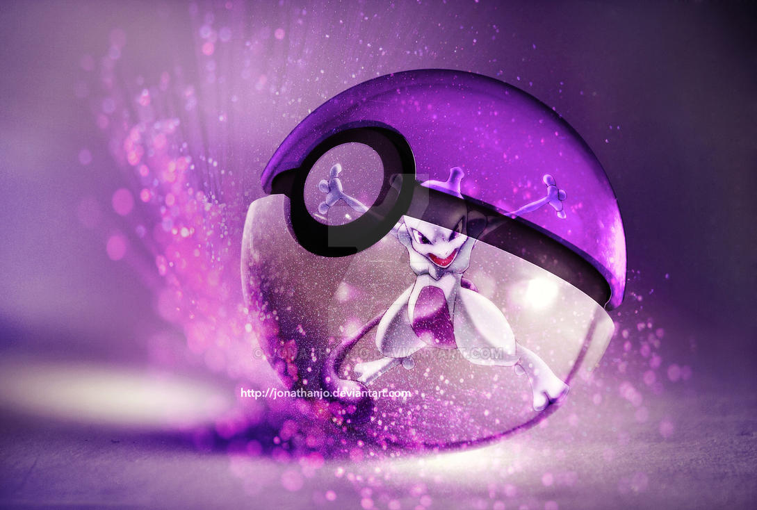 The Pokeball Of Mewtwo By Jonathanjo
