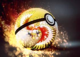 HO-OH into pokeball by Jonathanjo